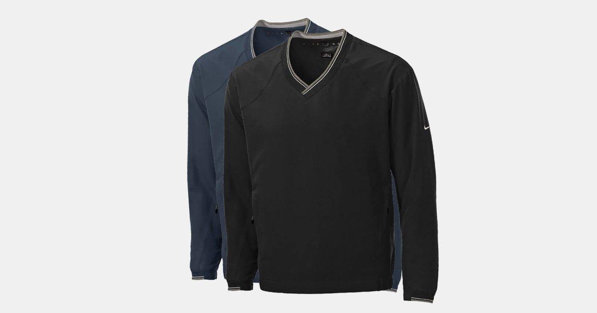 03eba13c5d51 Custom Shirts Nike Golf - V-Neck Wind Shirt-Embroidered